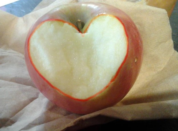 Heart-shaped apple bite! By Amy Nash (aka my niece)