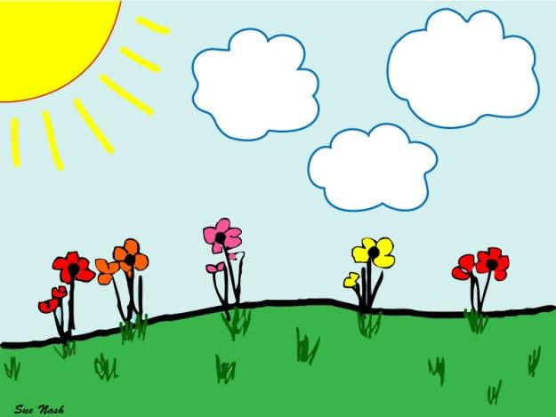 Bright cloud sketch